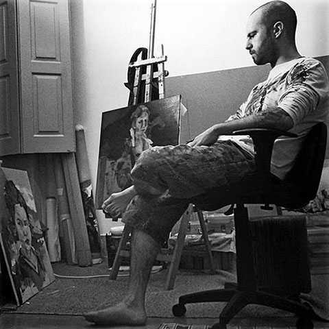 João Teixeira - João Teixeira was born in 1982, in Coimbra, Portugal where he still lives. He has an academic background in health and started painting in 2013 as a self-taught artist.Between the real and the abstract he is mostly inspired by the human figure, its movements and its interaction with the environment. His works usually begin with a photograph or a projected image that he mentally decomposes so as to give live to its own creation, its interpretation of the body, the gestures and ultimately the skin.