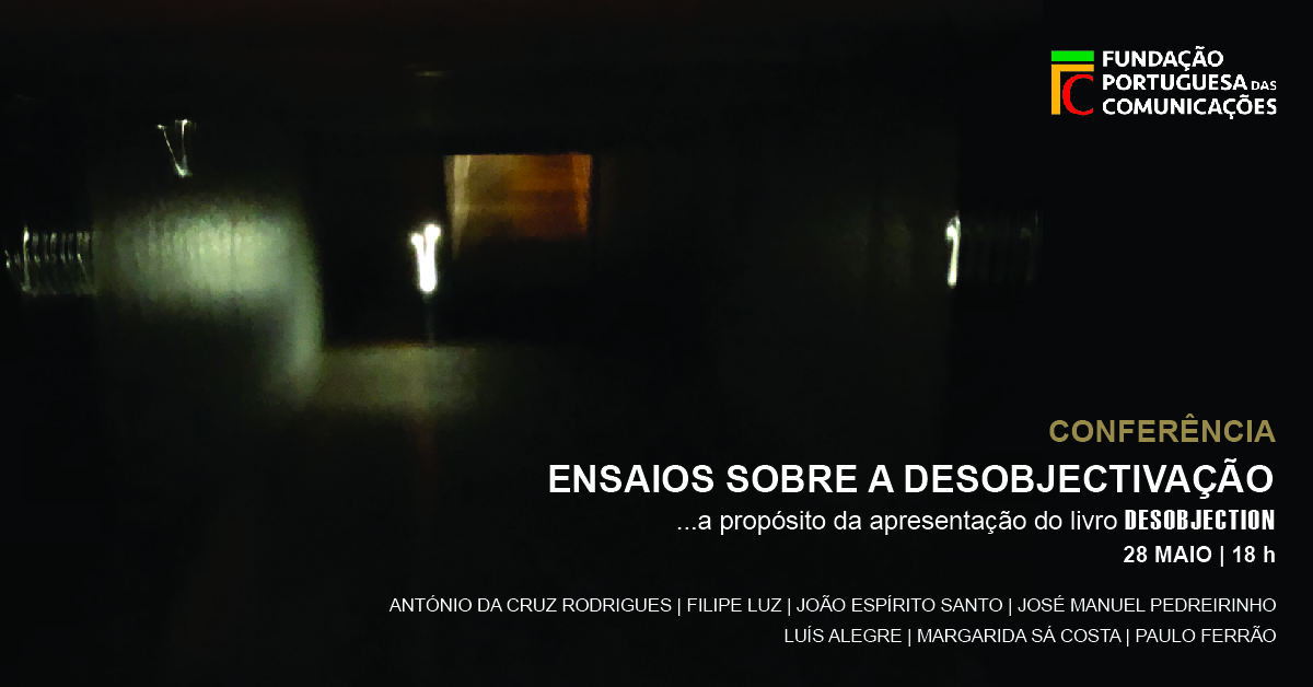 "In anticipation of the ""DESOBJECTION"" exhibition opening on June 5, at CARRASCO Art Gallery, the artist António da Cruz Rodrigues will launch the book with the same name during a conference next Tuesday, May 28 at 6pm, at the Fundação Portuguesa das Comunicações in Lisbon, Portugal.  The conference and book launch will provoke a free dialogue on related themes developed by the invited speakers: Filipe Luz, João Espirito Santo, José Manuel Pedreirinho, Luís Alegre, Margarida Sá Costa, Paulo Ferrão.  The book incorporates a book installation, carried out in co-authorship, with the artist Luis Alegre. It is edited by Stolen Books."