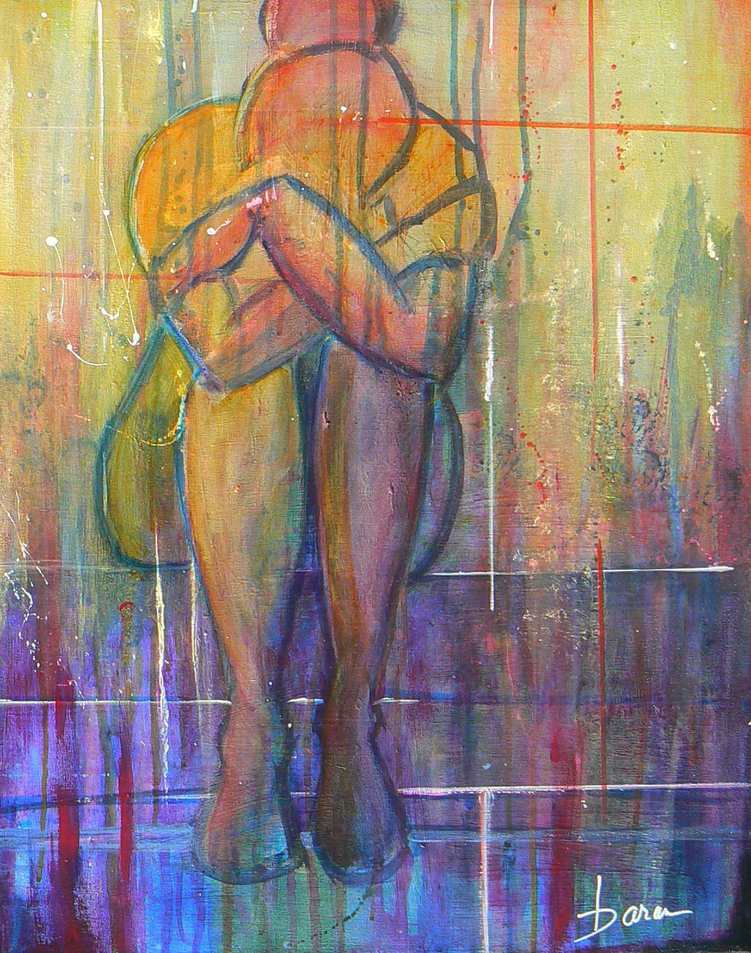"""Despair   22 x 28"""" Acrylic on Canvas Framed"""