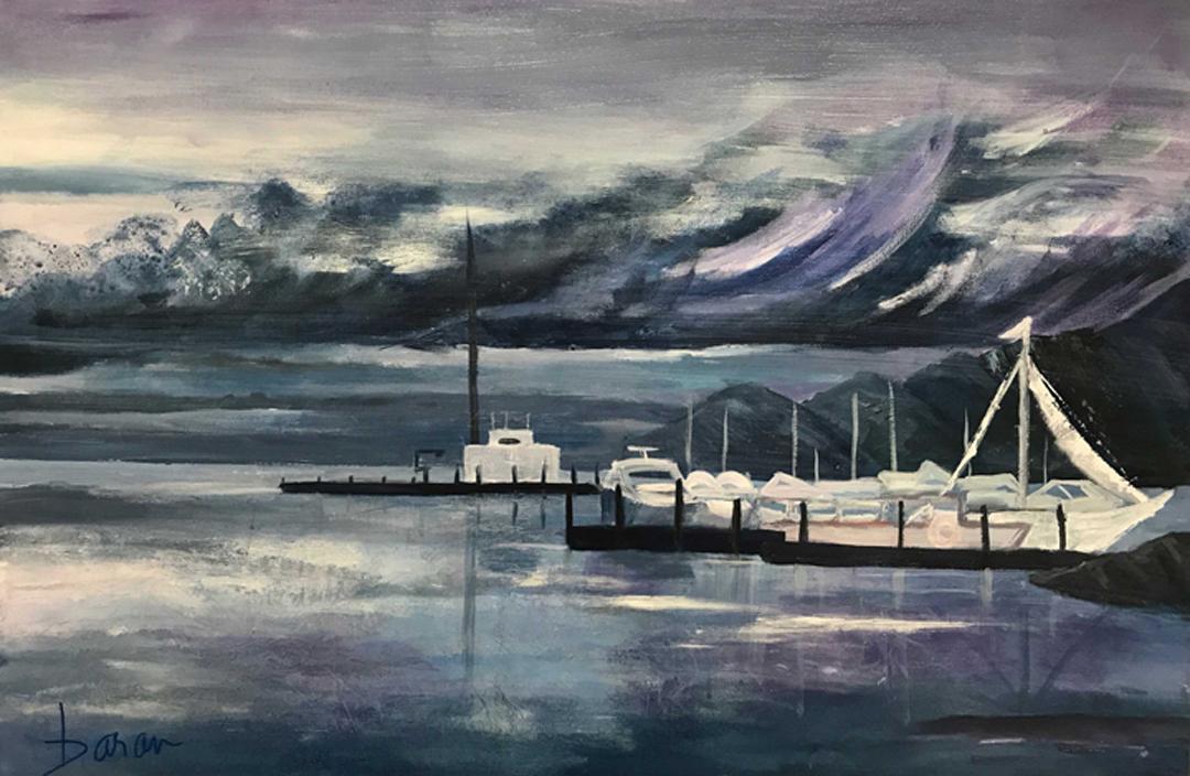 """Safe Harbor   24 x 36"""" acrylic on canvas"""