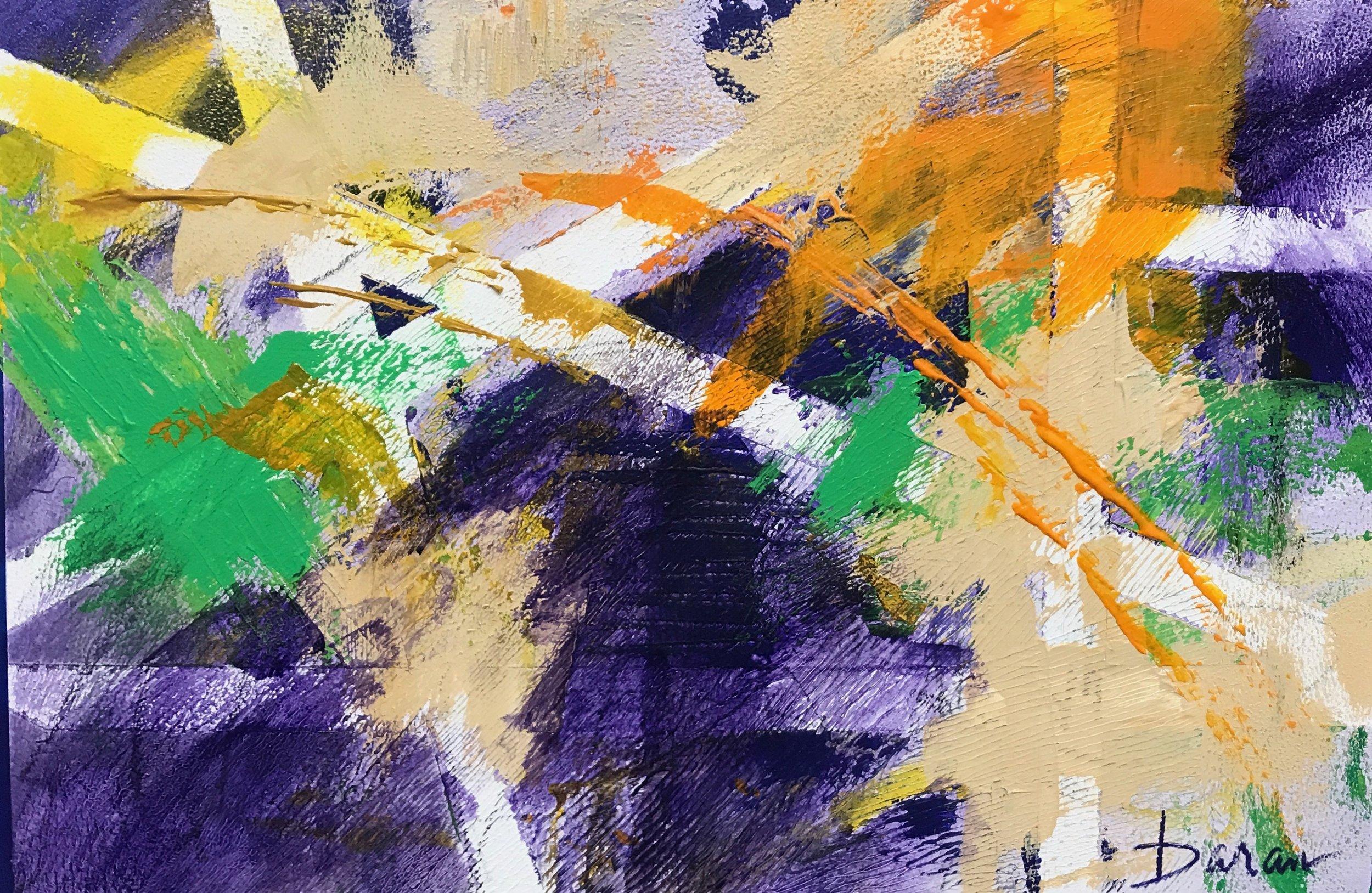 """Purple Maze   16 x 22"""" Acrylic on 300# W/C paper"""