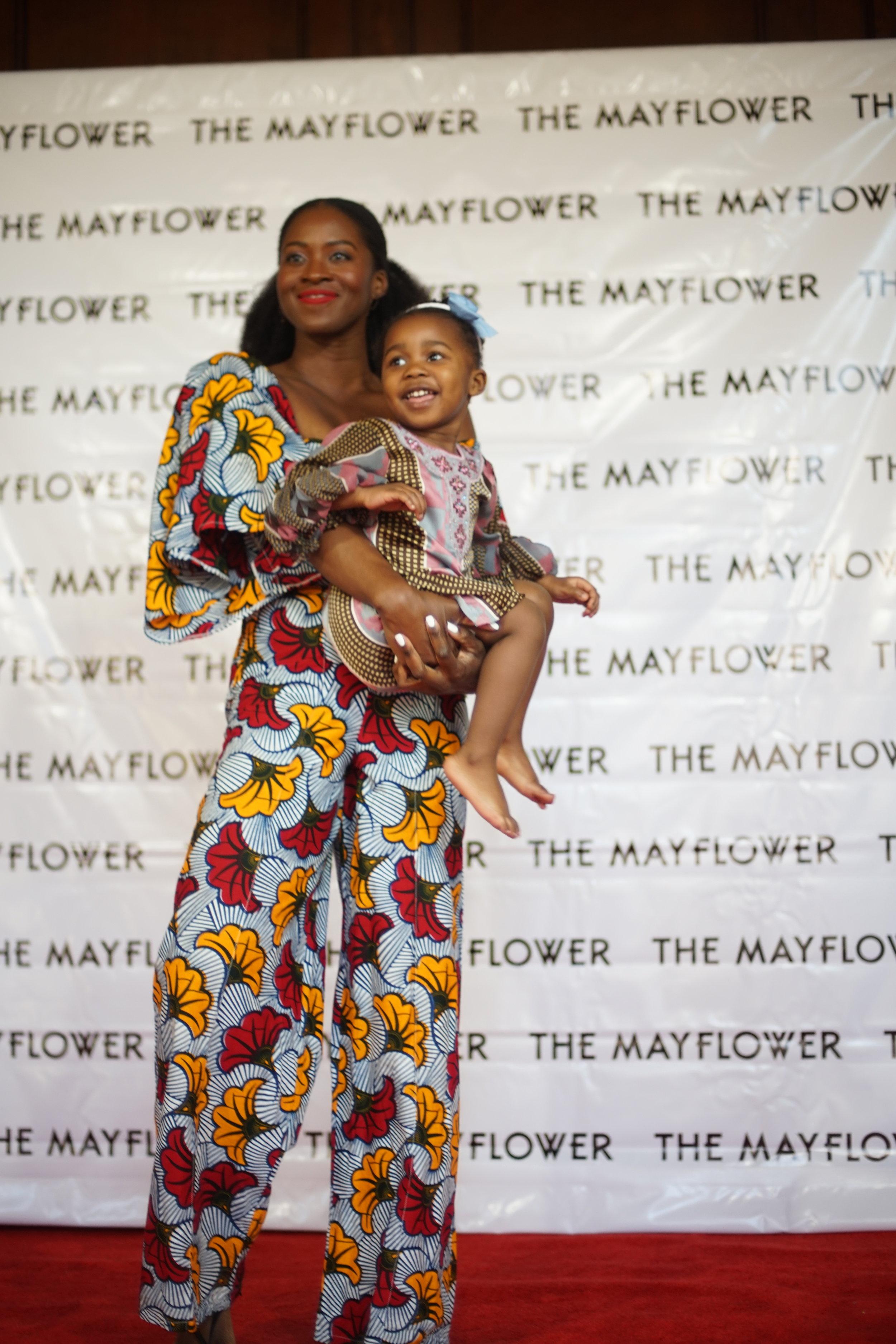 Creator & Writer Eposi Litumbe & Child Actor Nadia Mustapha | Photo courtesy of George Carle