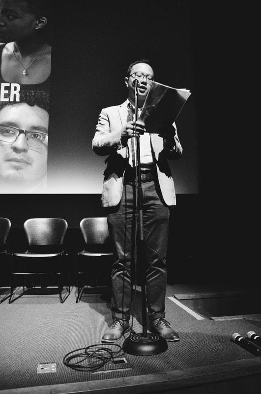 Special guest speaker Sam Tsoi | Photo courtesy of Austin J. Derr