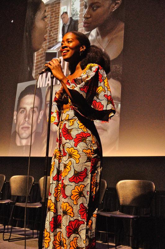Writer/Creator & Lead Eposi Litumbe speaks | Photo courtesy of Austin J. Derr