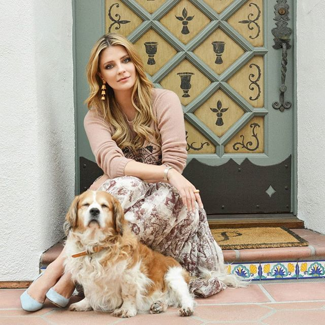 Had the pleasure photographing the beautiful @mischabarton with her cute lil pup! 🧡  Styled by @adeel_k