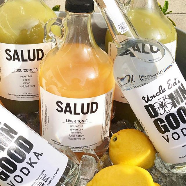 Love at first sip! So happy to have found our friends at @saludjuice to mix it up with! Check them out! Have an awesome Sunday! 🌺