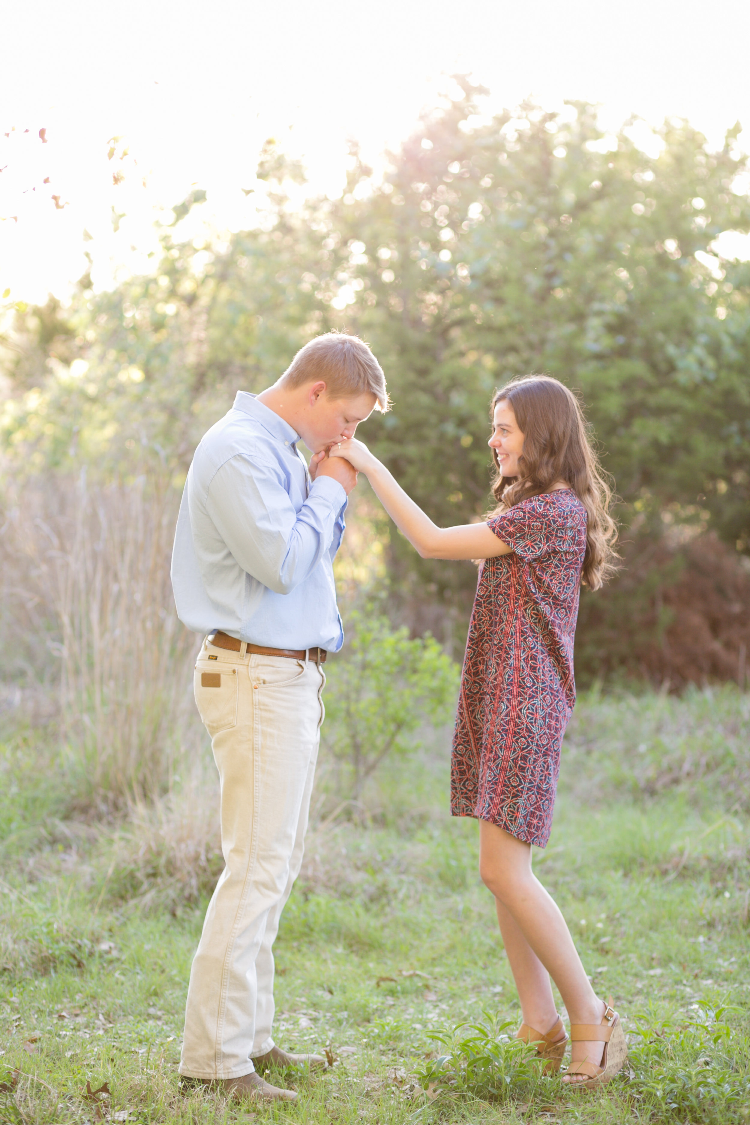 San Antonio Engagement Session in Field Cibolo Nature Center