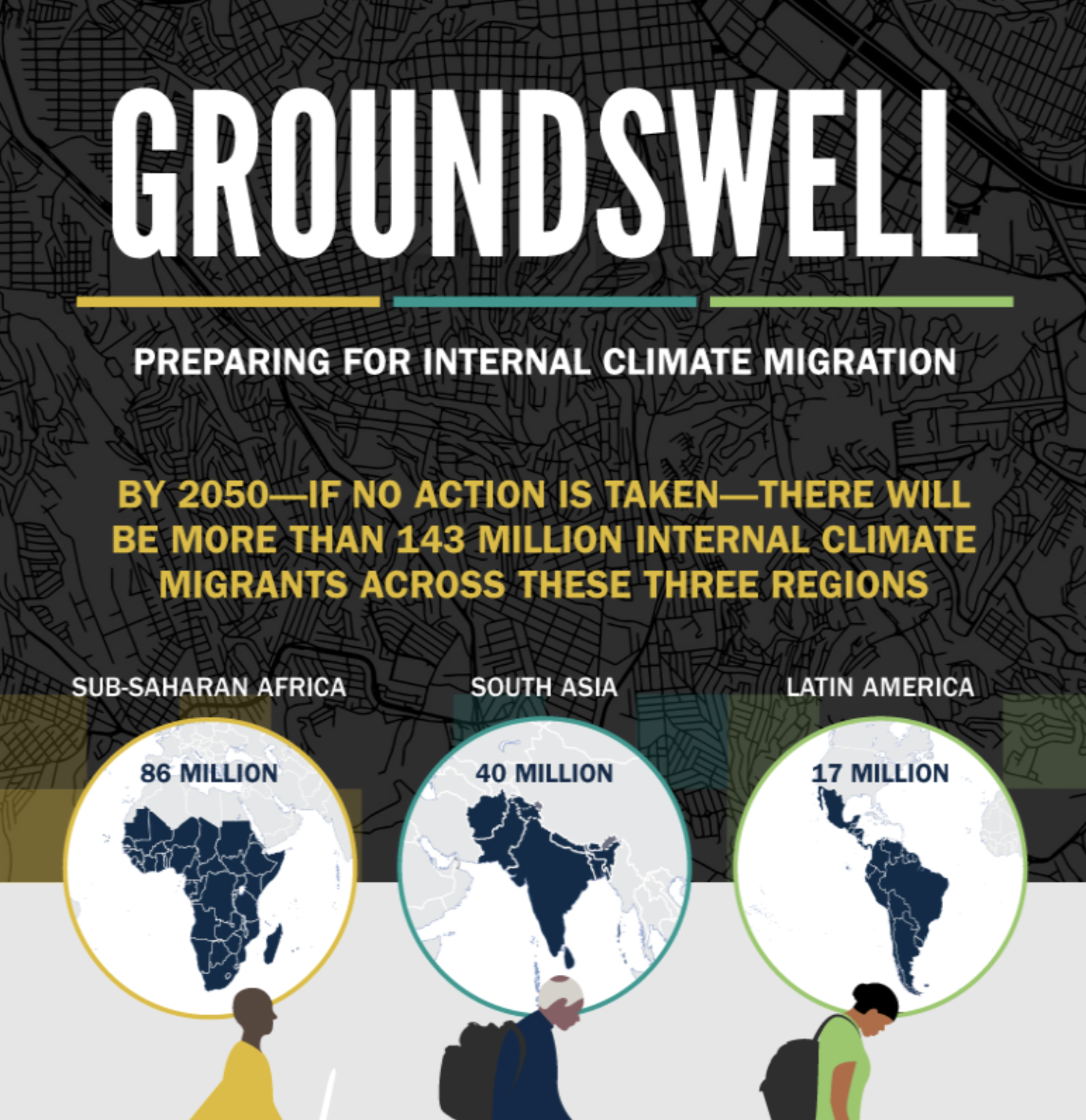"""The World Bank report,   Groundswell—Preparing for Internal Climate Migration   ,  concludes that climate change could transform more than 143 million people into """"climate migrants"""" escaping crop failure, water scarcity, and sea-level rise."""