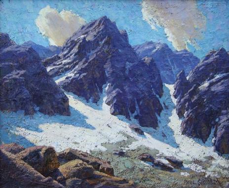 Palisades Glacier, High Sierra, Grimm