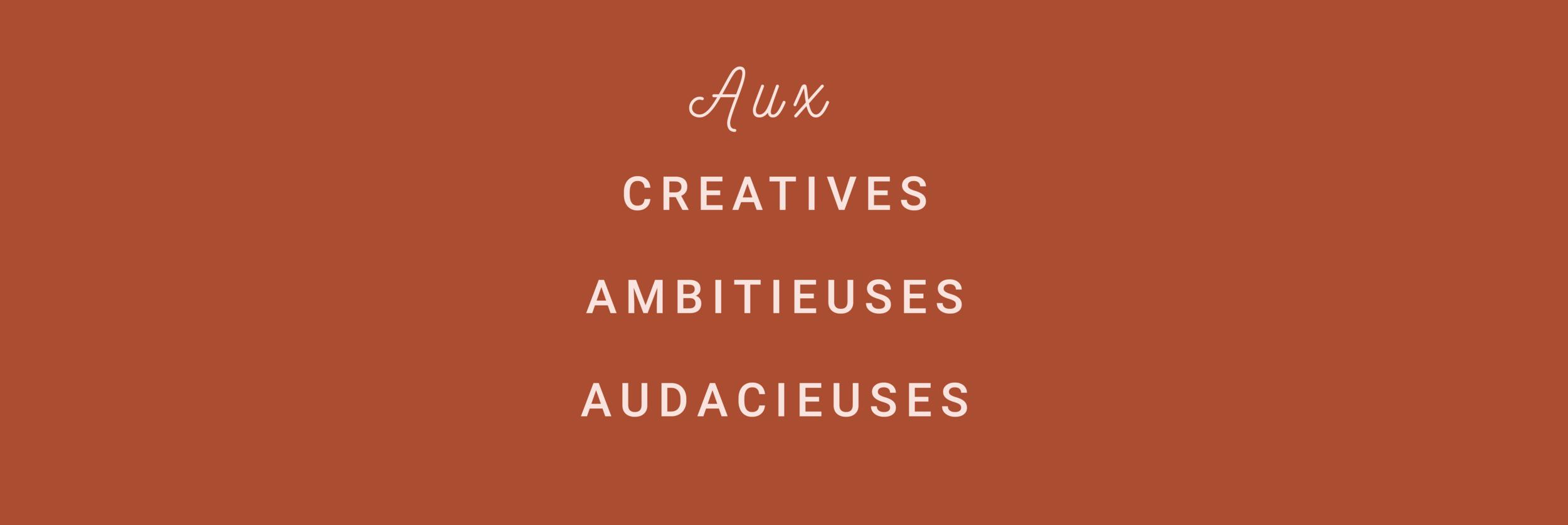 Mes prestations s'adressent aux créatives, ambitieuses et audacieuses - victorinepiot.com
