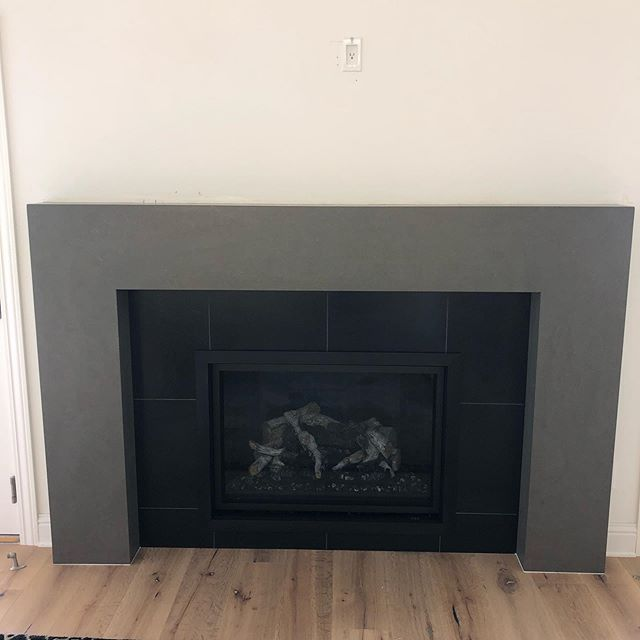 Mitered fireplace surround using @diresco_be quartz. #quartz#stone#fireplace#fireplacesurround#fire#remodel#stonefabrication#sierrastoneinc#shoplocal#sonoraca