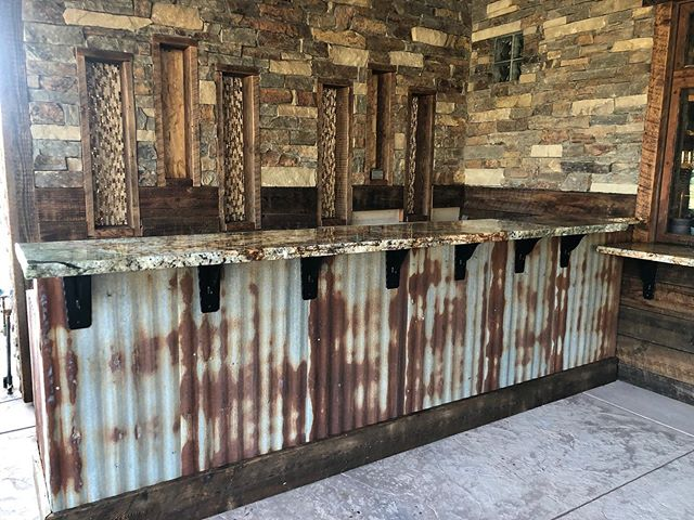 Broken edge for these outdoor counters. #brokenedge#edge#granite#outdoorcountertop#countertop#outdoorkitchen#rustic#rustickitchen#sierrastoneinc