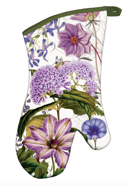 Michel Design Works Cotton Kitchen Oven Mitt Paradise Hibiscus Floral Birds