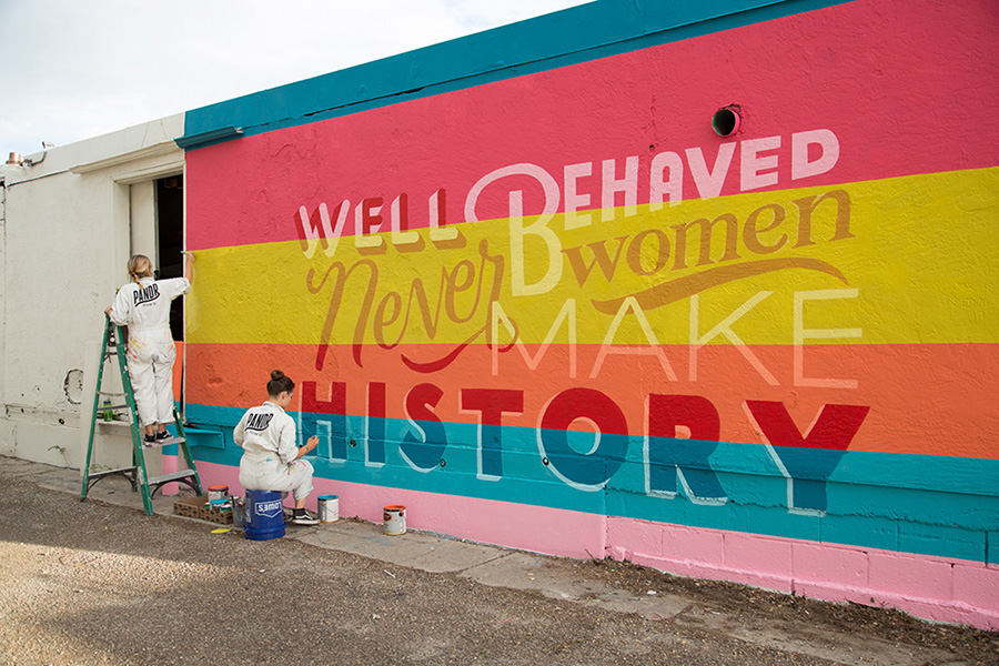 Well Behaved Women Rarely Never Make History Mural in Albuquerque New Mexico for Mural Festival