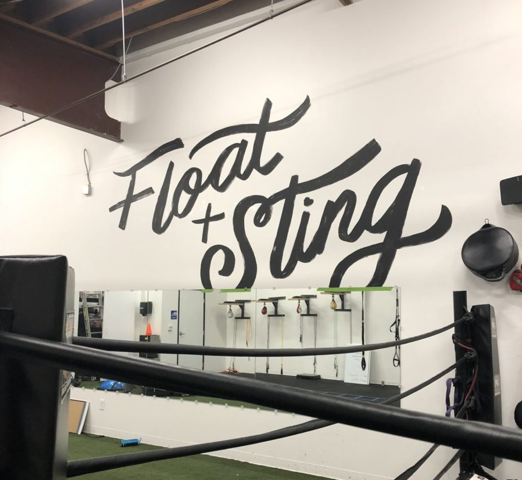 Custom, Hand Painted Float and Sting Mural at BoxFit Gym