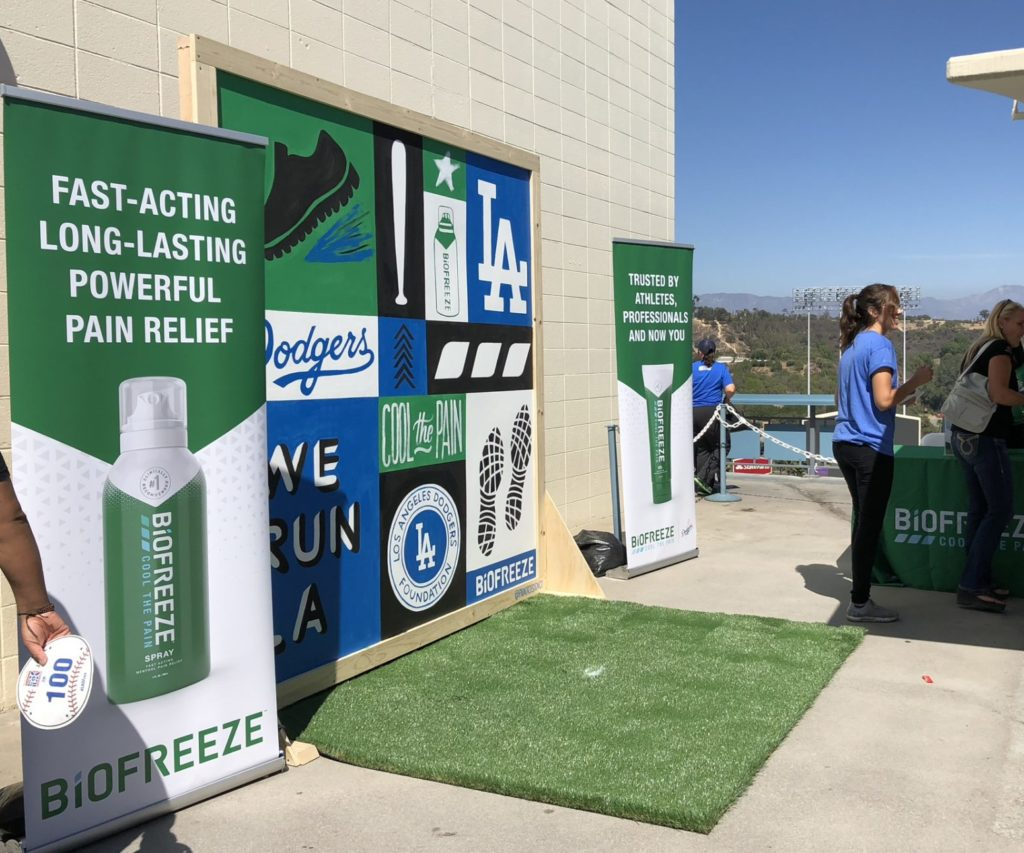 Dodgers MLB Custom Hand Painted Mural at AT&T Stadium for Biofreeze