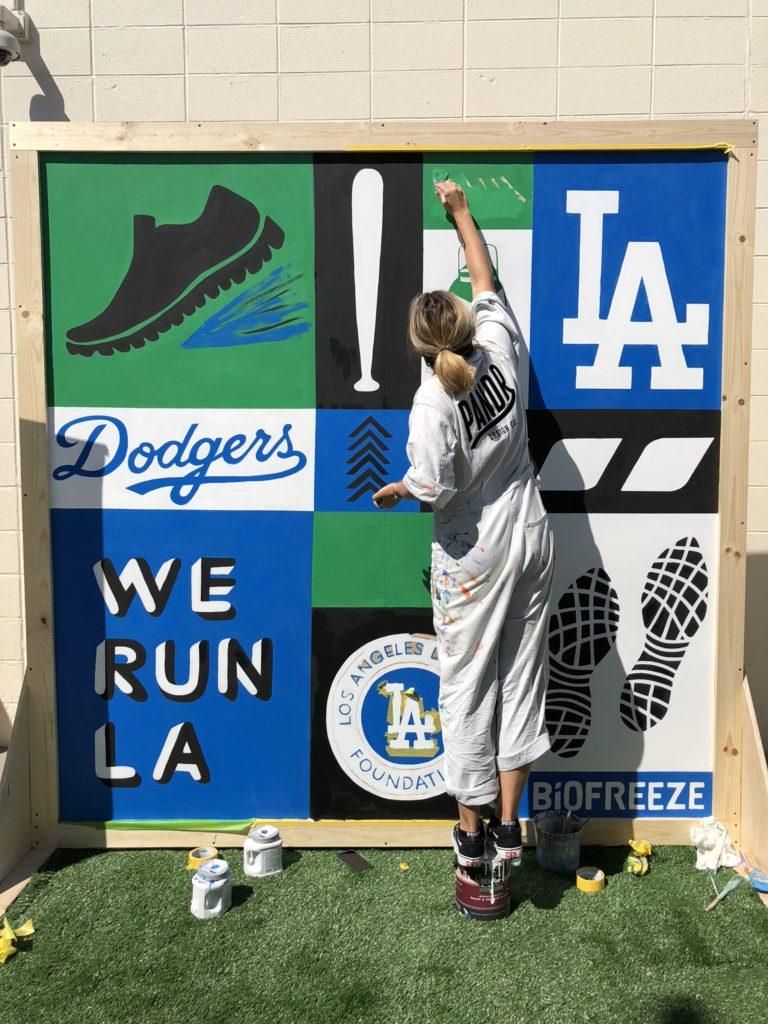 Dodgers MLB Custom Hand Painted Mural