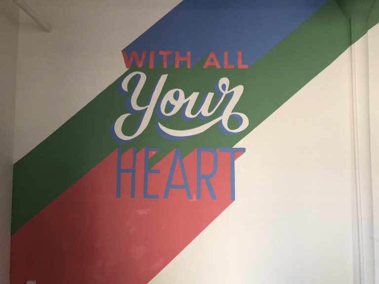 With All Your Heart Custom Hand Painted Office Mural for A. Wordsmith