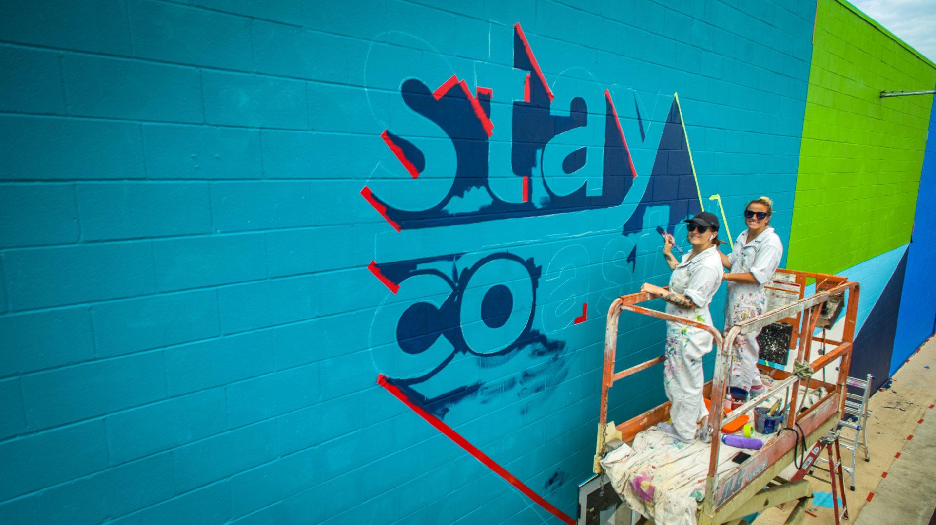 Custom Hand Painted Coronado Brewing Murals Cheers San Diego, Stay Coastal