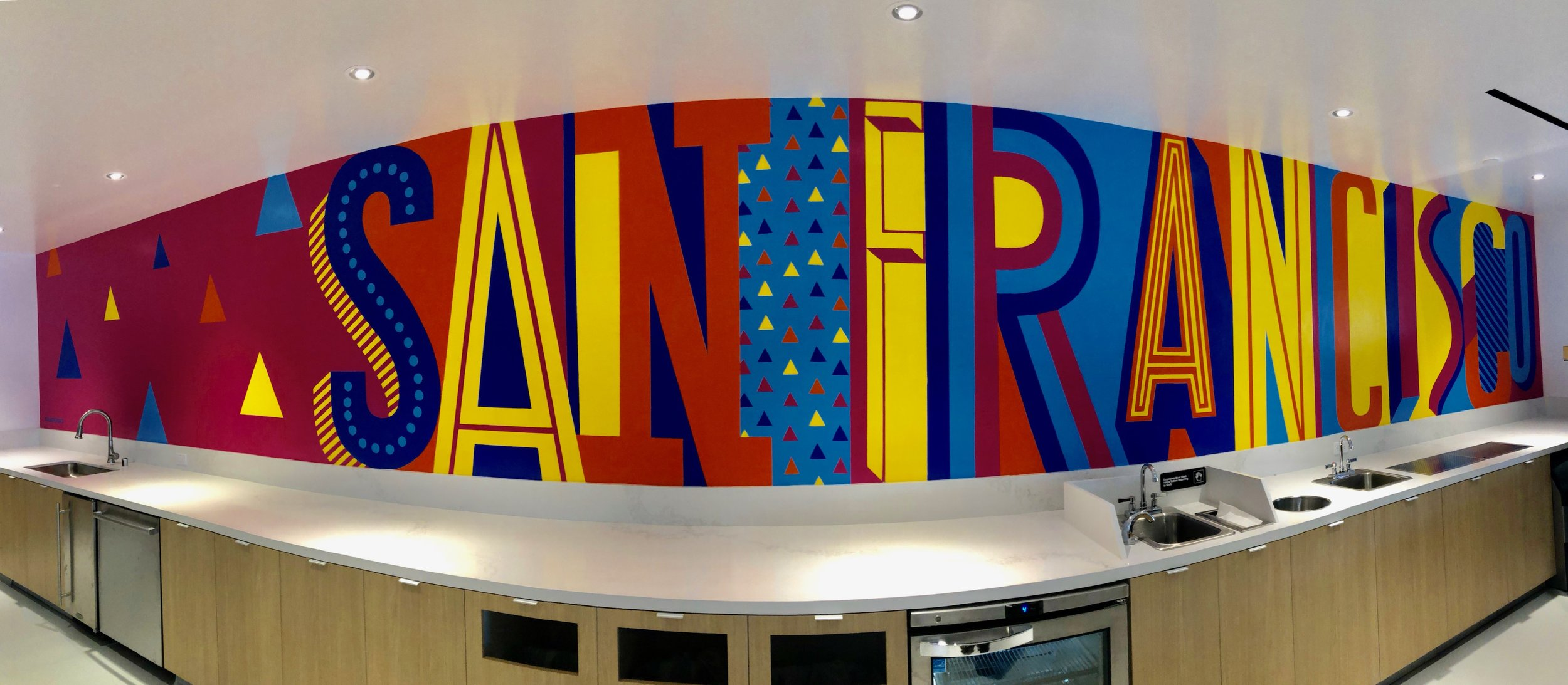 Visa Office San Francisco - Pandr Murals with Customer Lettering