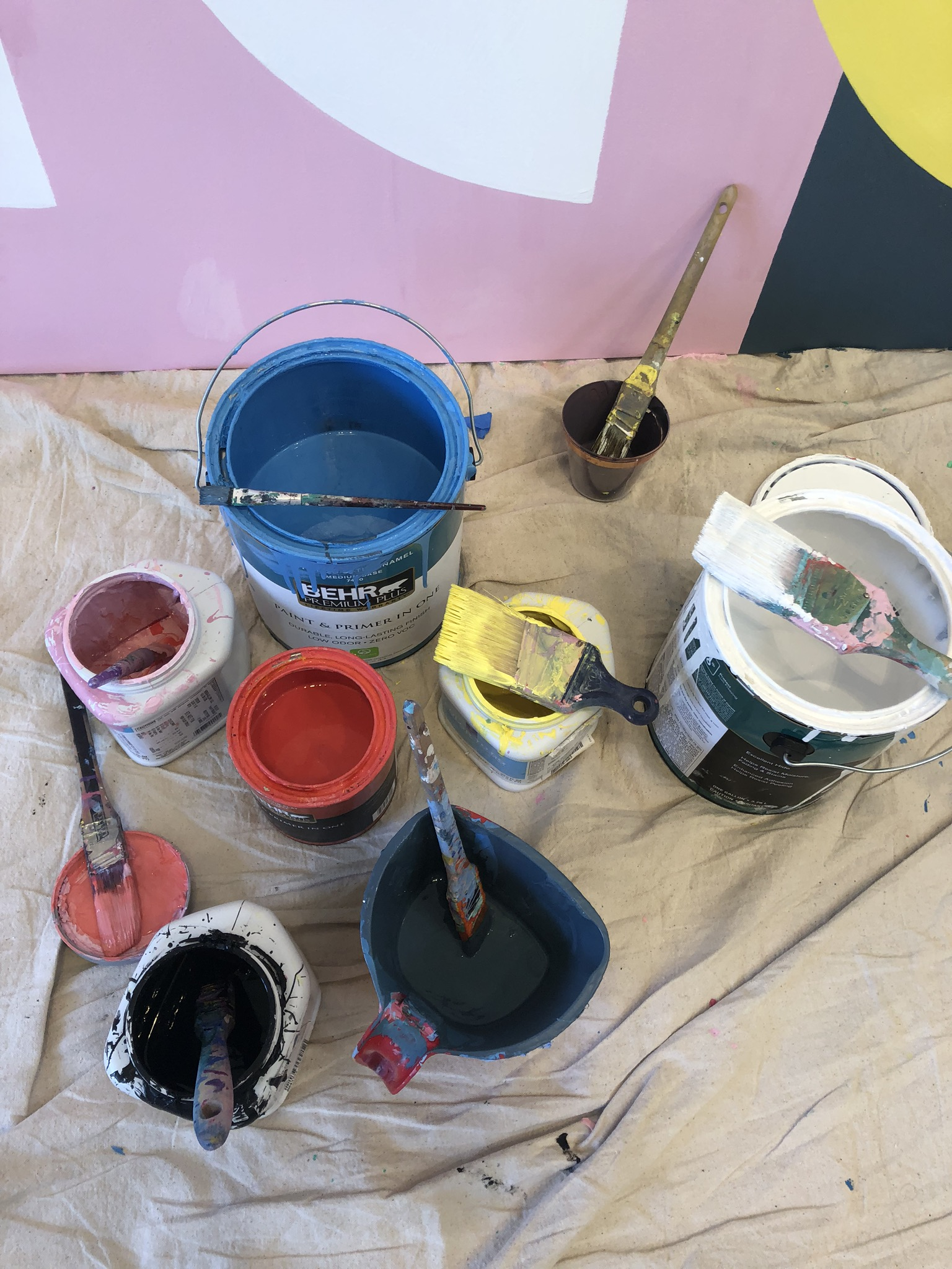 Marrow Fine Geometric Custom Mural Paint Buckets