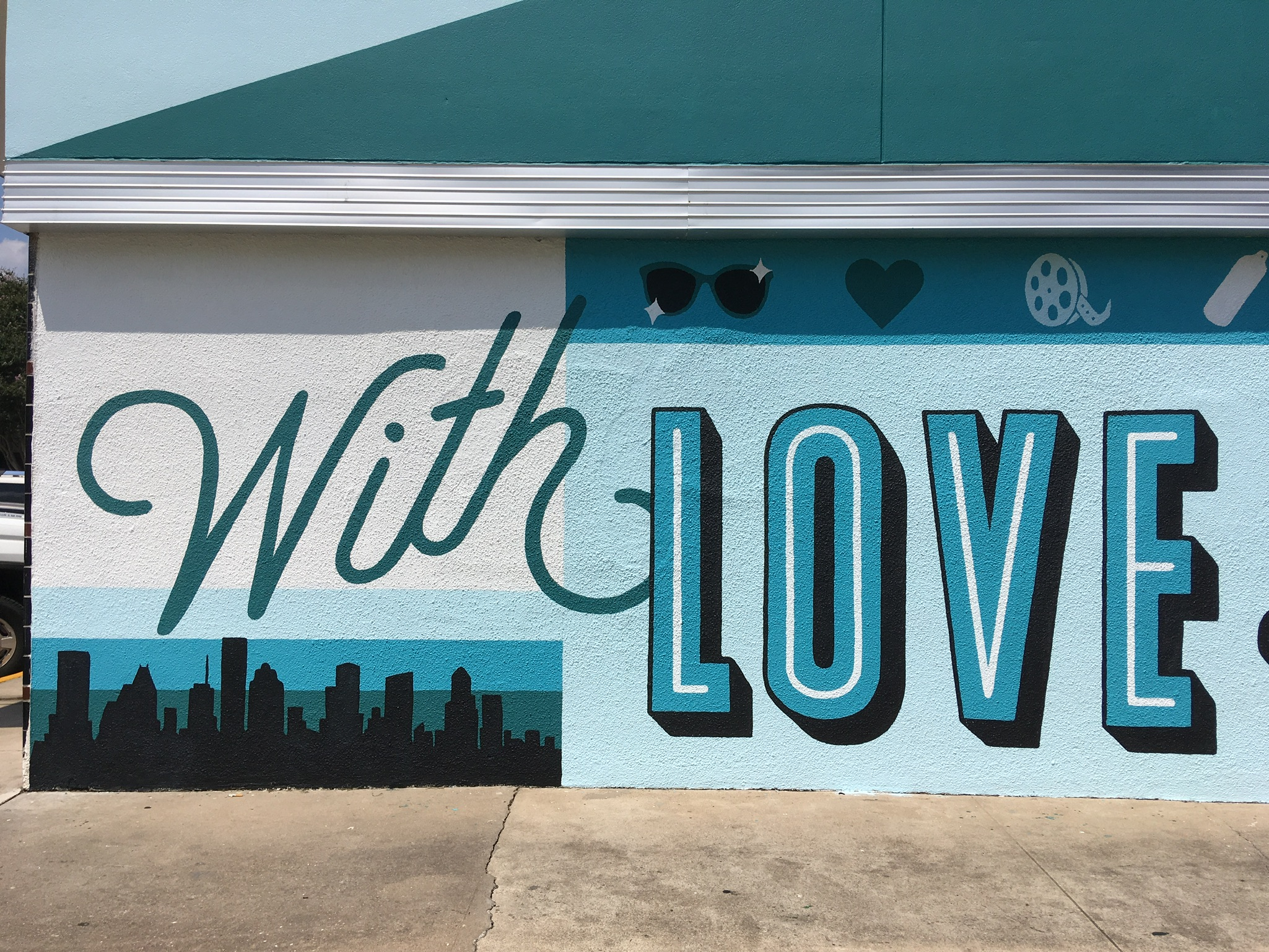 Custom Hand Painted With Love from River Oaks Mural in Houston Texas