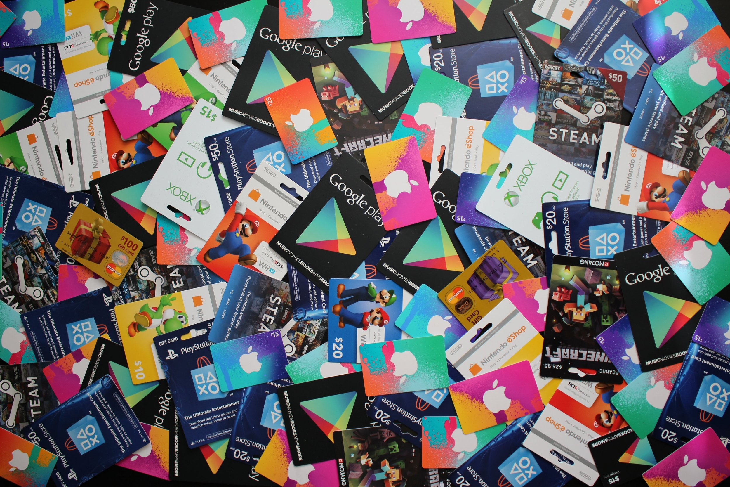 ALL OTHER GIFT CARDS - NEED SOMETHING OTHER THAN A U.S. ITUNES GIFT CARD? THAT'S OK!Please fill out the form below to let us know what you need. We carry and have access to most of the popular prepaid debit, media and gaming gift cards here in the U.S., as well as U.K. iTunes gift cards.