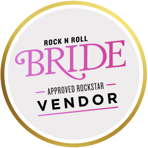 rock n roll bride vendor badge approved rockstar