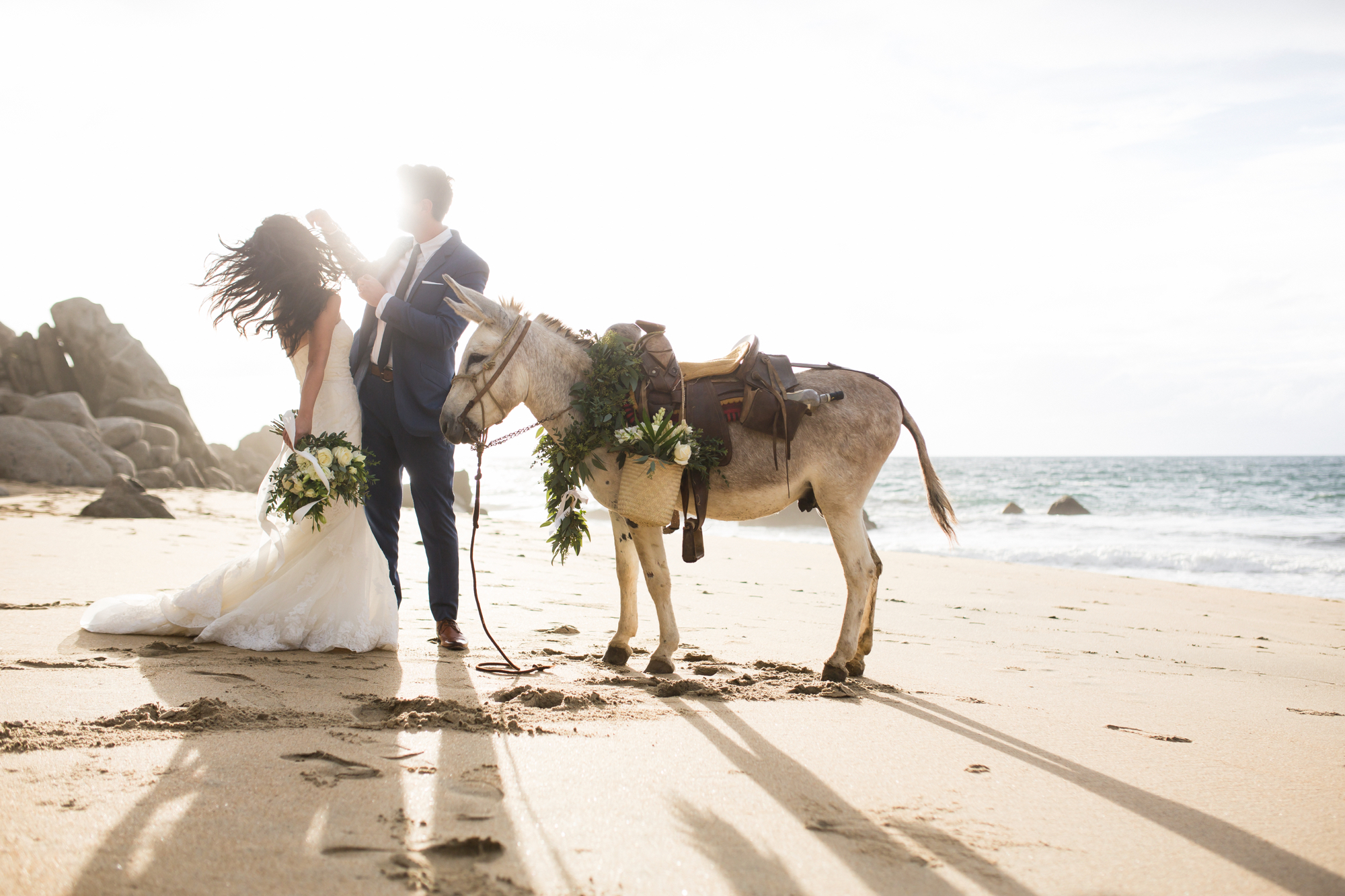 sunset wedding sayulita