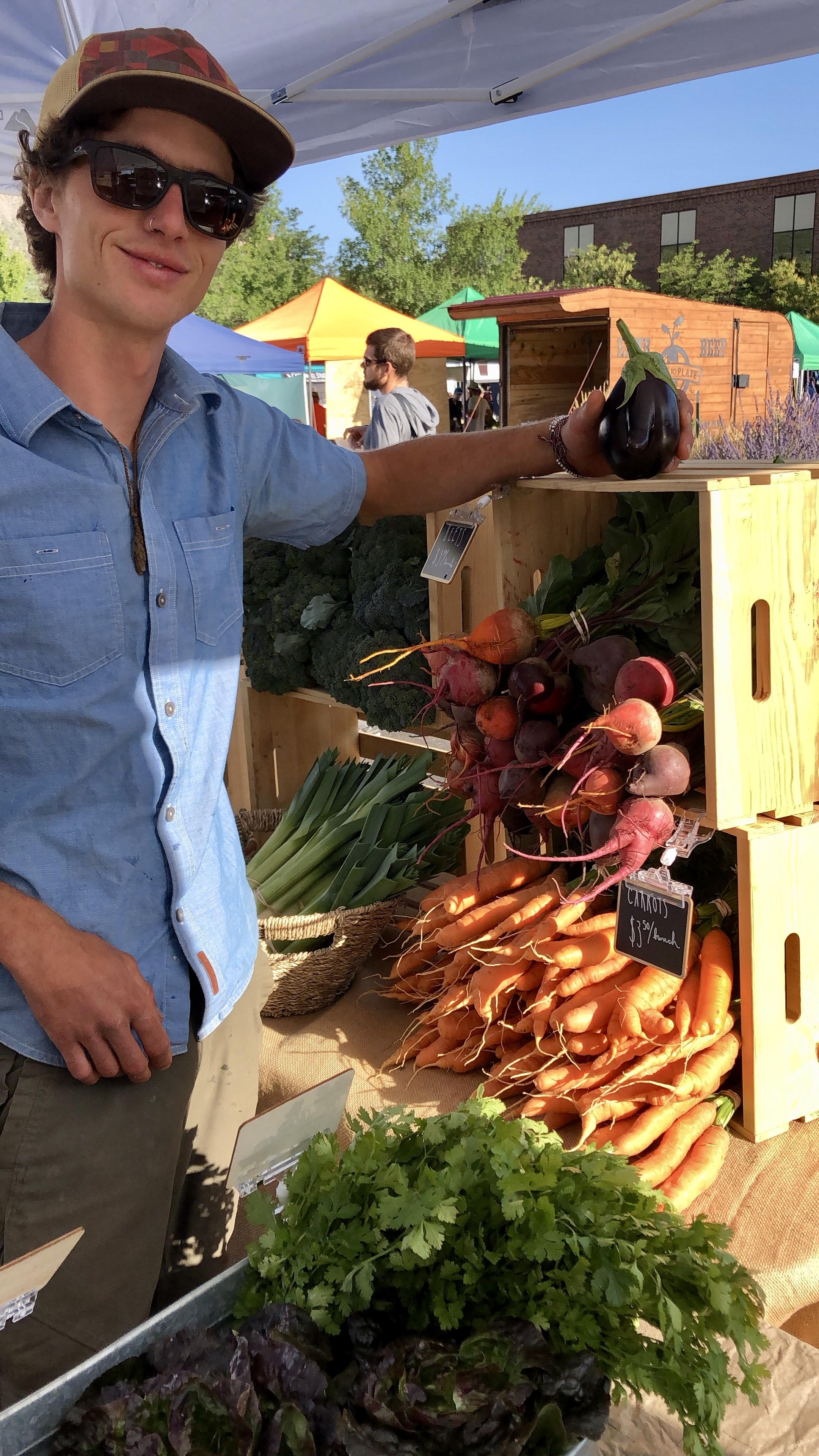 Sharing the love at the Durango Farmers Market