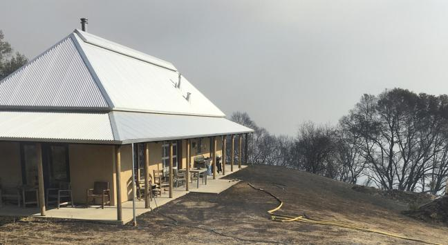 Arkin Tilt Acrchitechts timber frame strawbale farmhouse saved the lives of its inhabitants in the 2017 fires that tore through Redwood Valley.