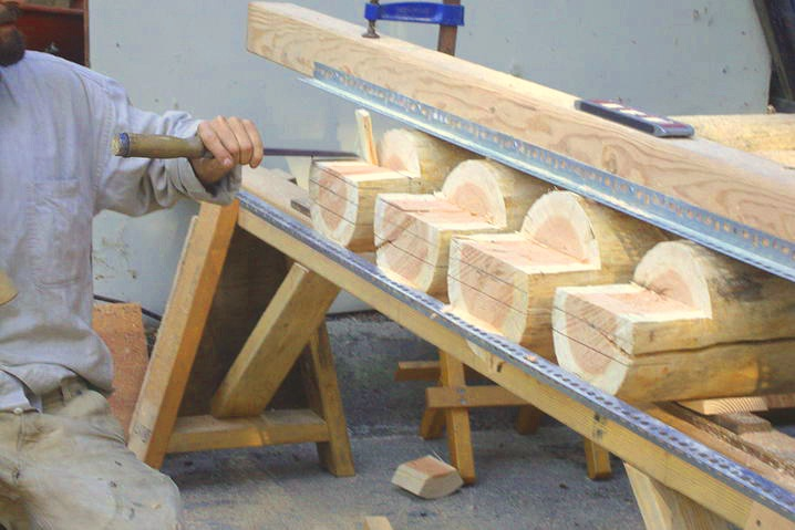 Innovative joinery and tooling for round wood.  Image credit: Colin Gillespie