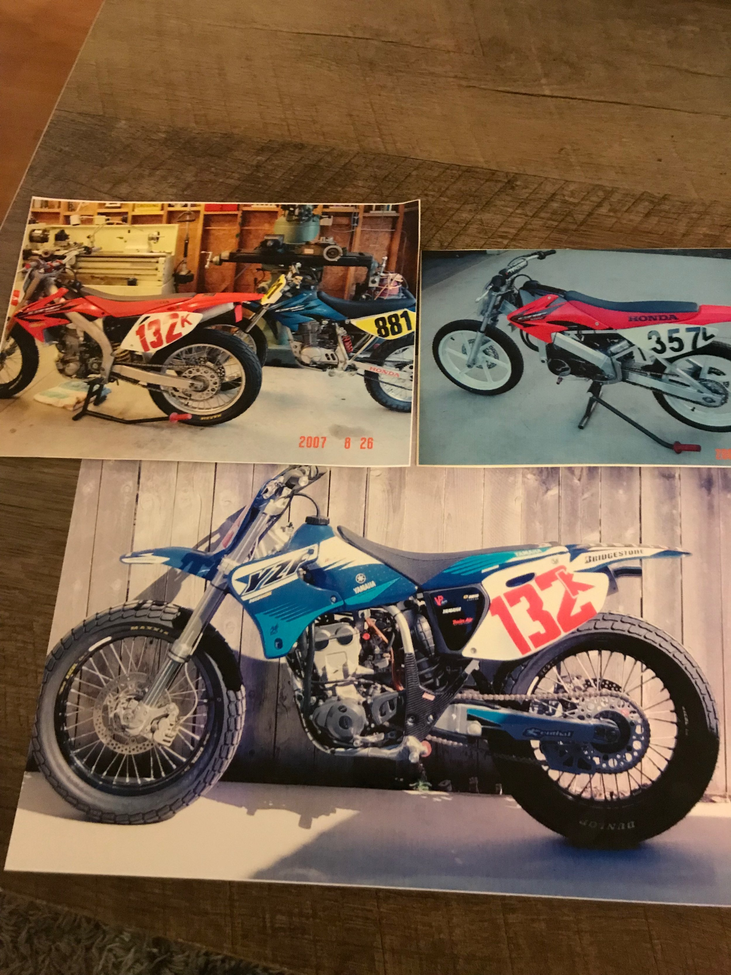 A few motorcycles that I built and sold to feed the college fund.