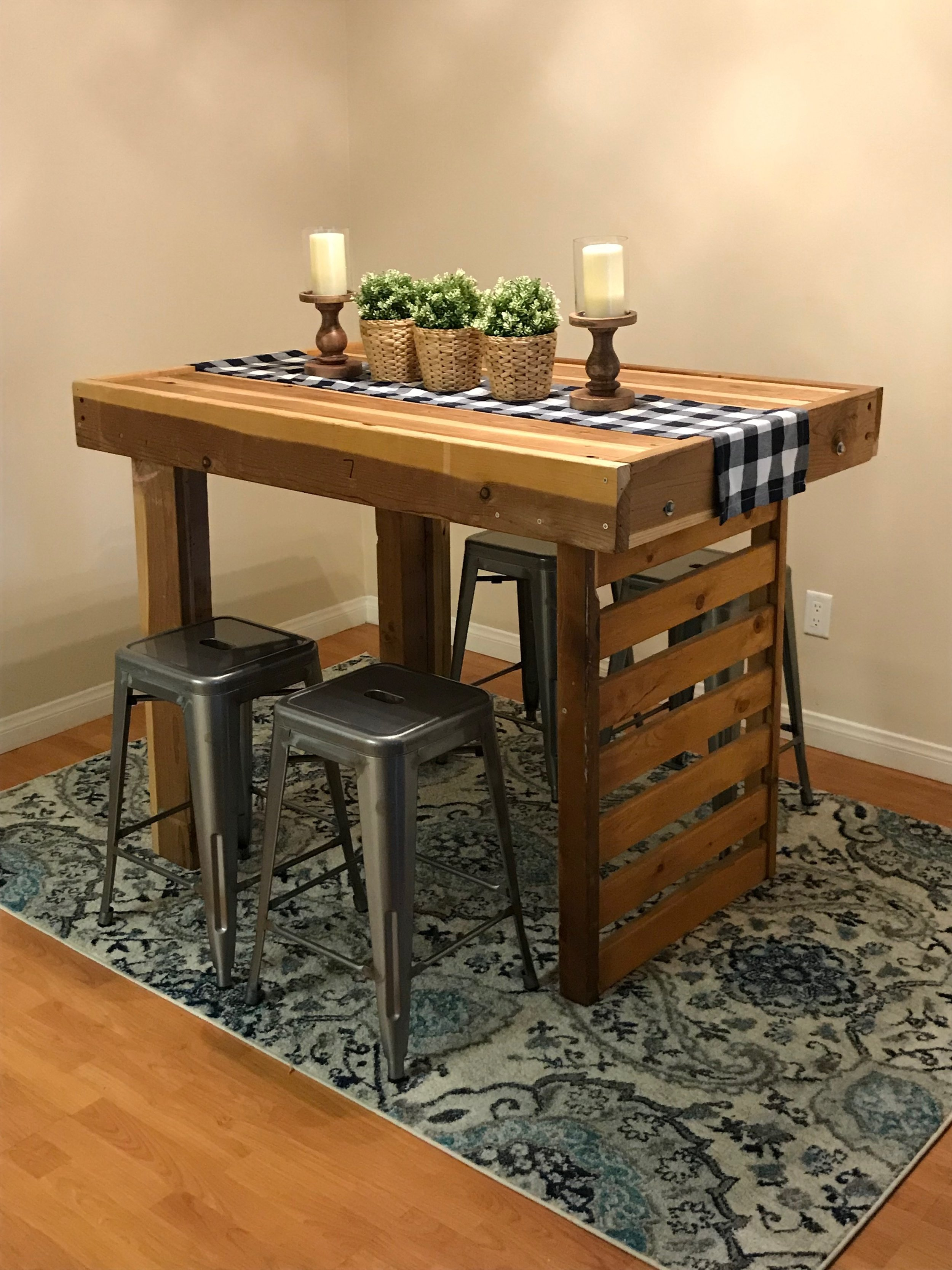 The table I made and am using in my apartment.