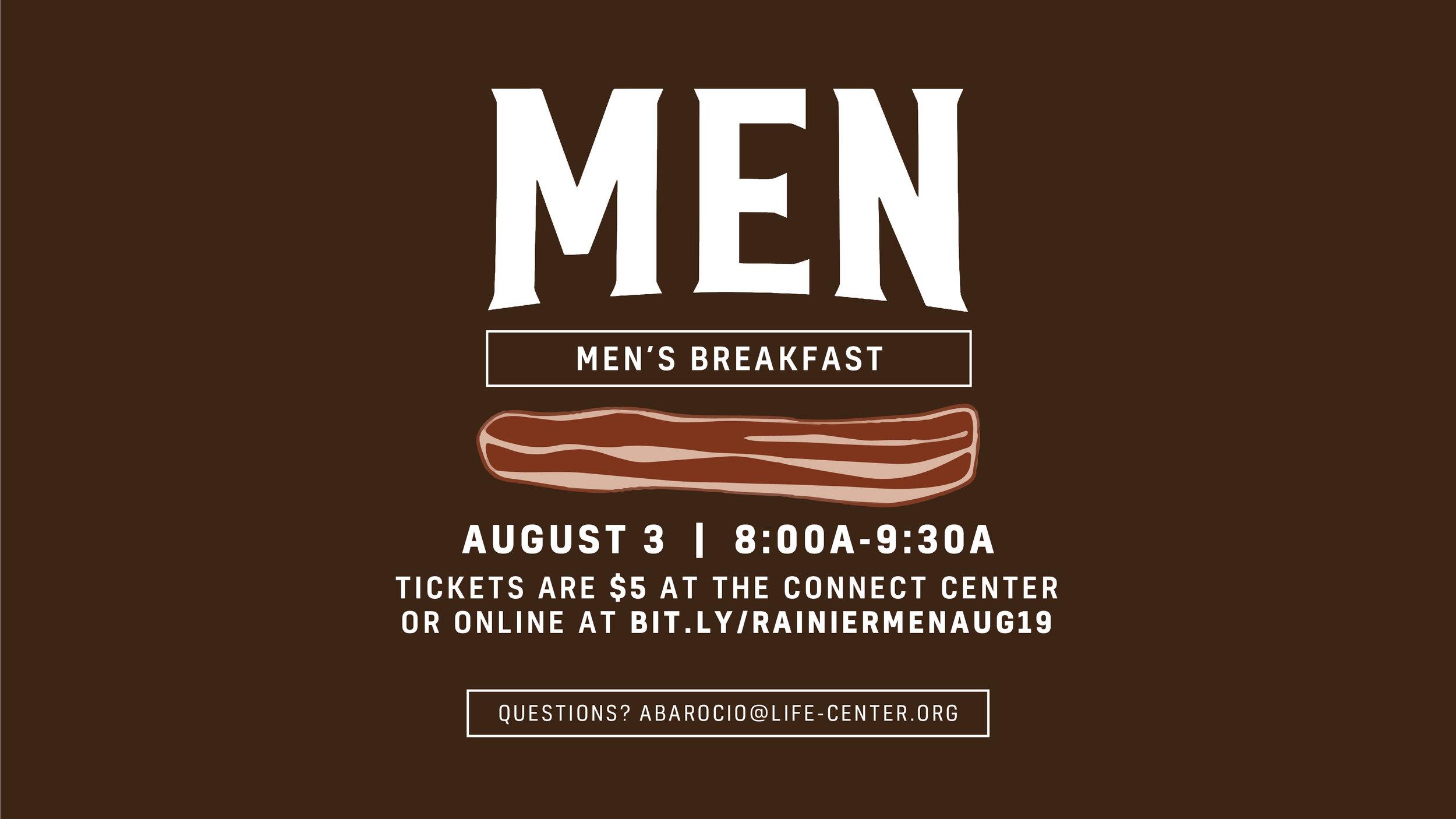 Life Center Rainier   Men's Breakfast