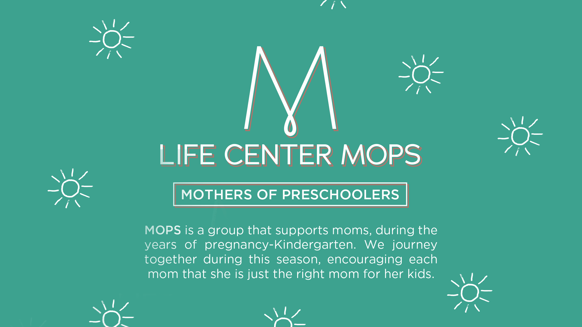 Join us for our Mothers of Preschoolers group!