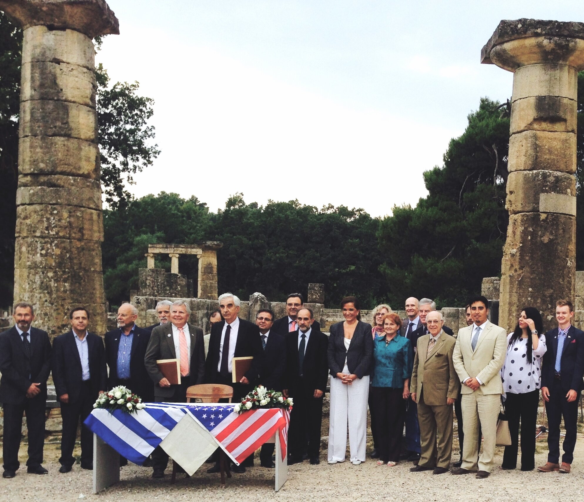 Sister City Ceremony - Ancient Olympia, Greece, Spring 2014