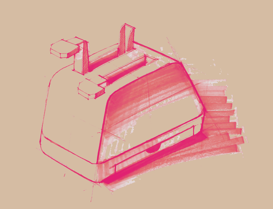 Sketch of the final, optimized toaster -