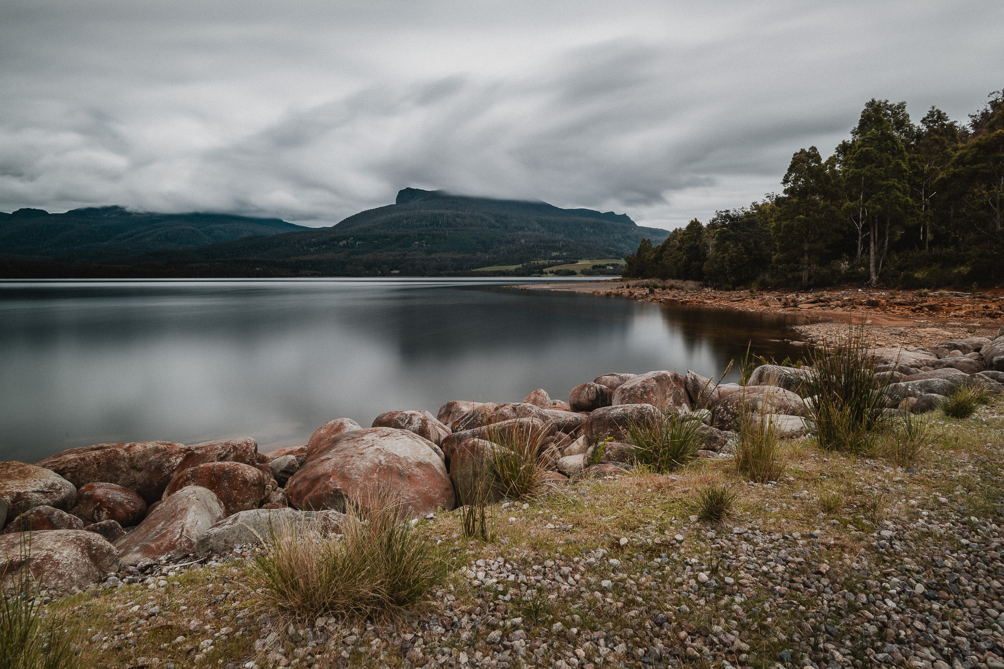 240/365 | Overlooking Meander Dam, Mother Cummings and Ironstone shrouded in cloud.