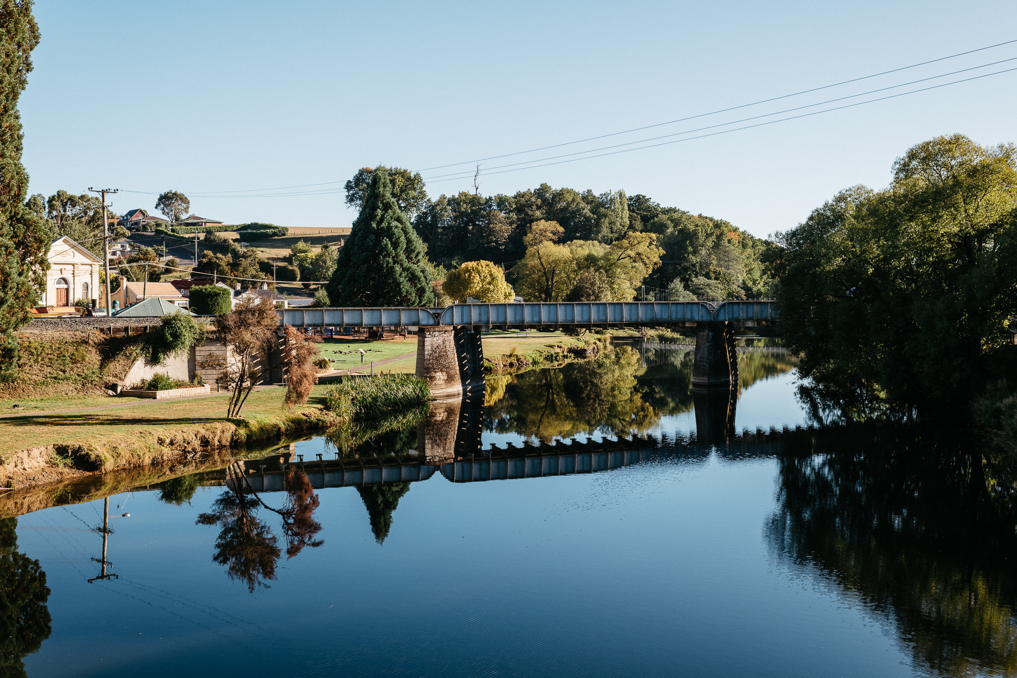 344/365 | Morning reflections on the Meander River, Deloraine
