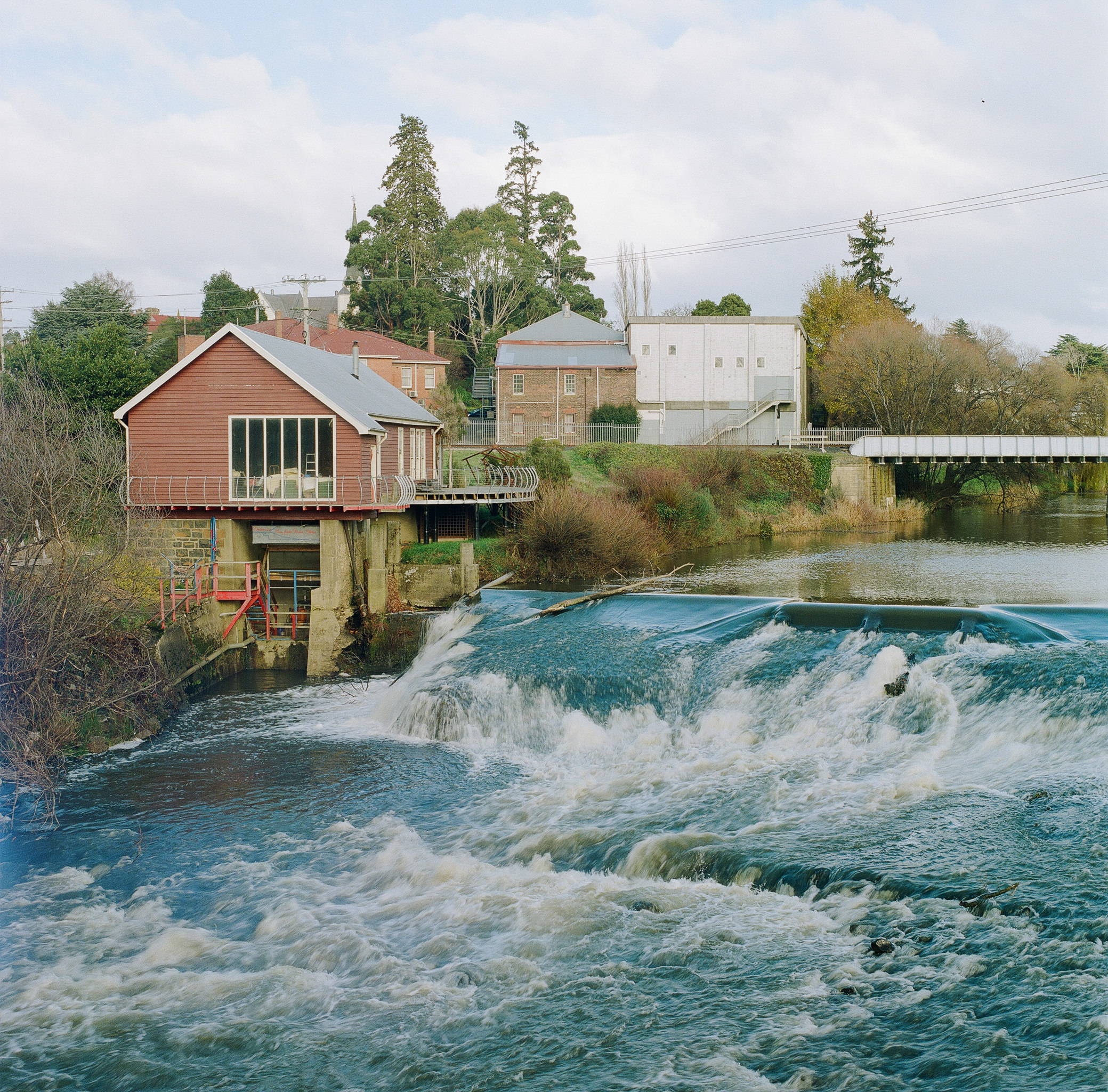 The old Power House and the Meander River