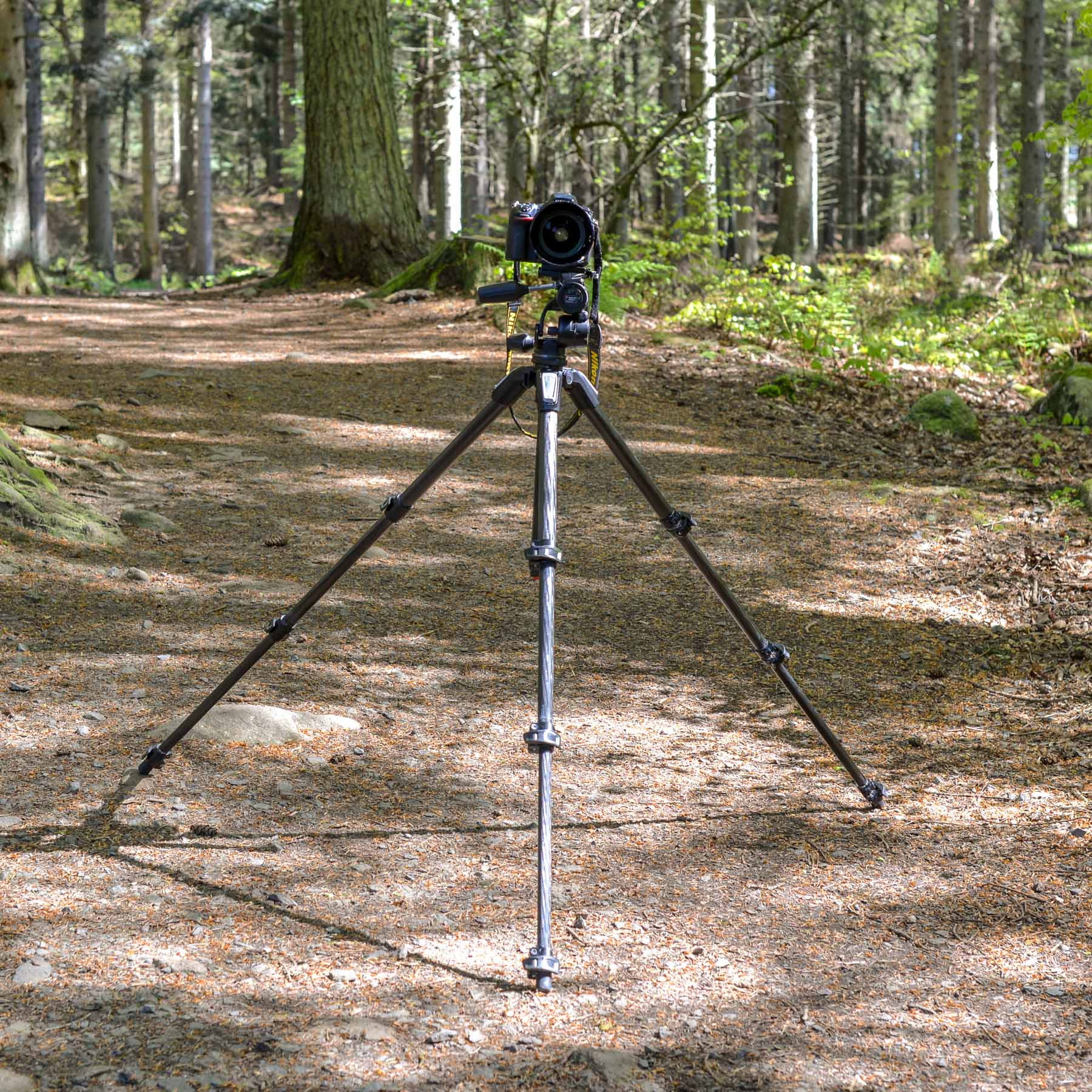 Widen the legs of the tripod for a more stable stance.