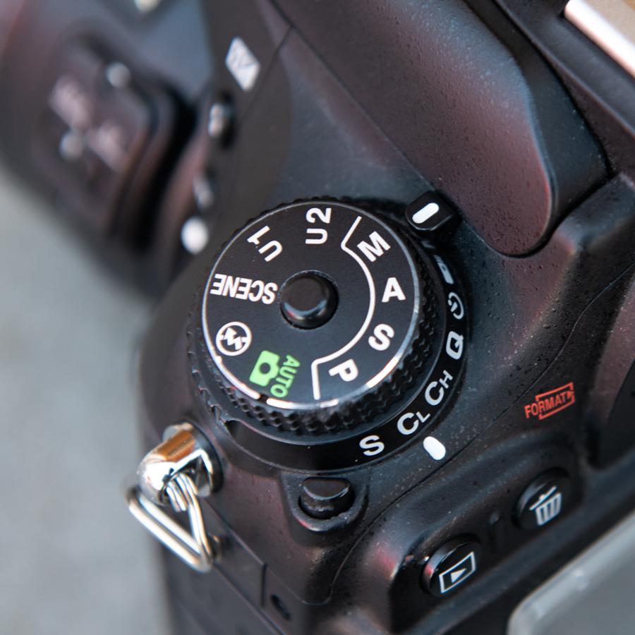 M - Manual. You have control over both Aperture and Shutter Speed settings.