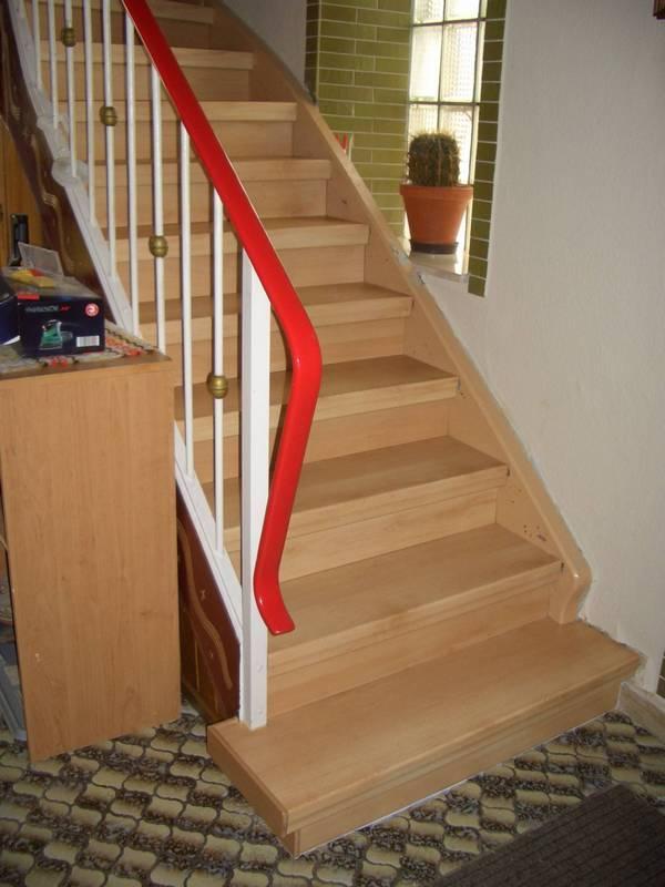 renovierte Treppe