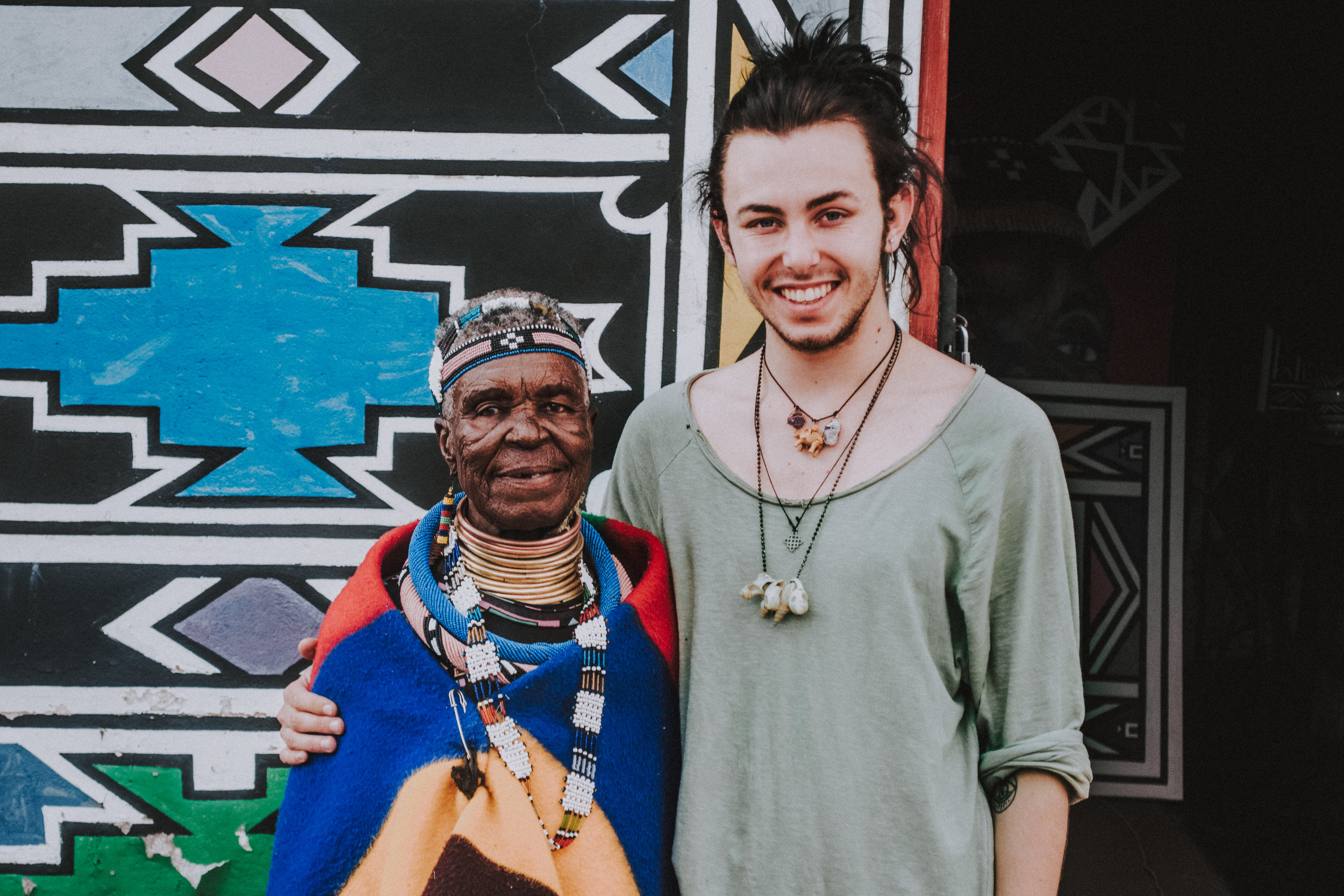 Me and Mama Esther Mahlangu at her house in Mapoch, Mpumalana - SOUTH AFRICA