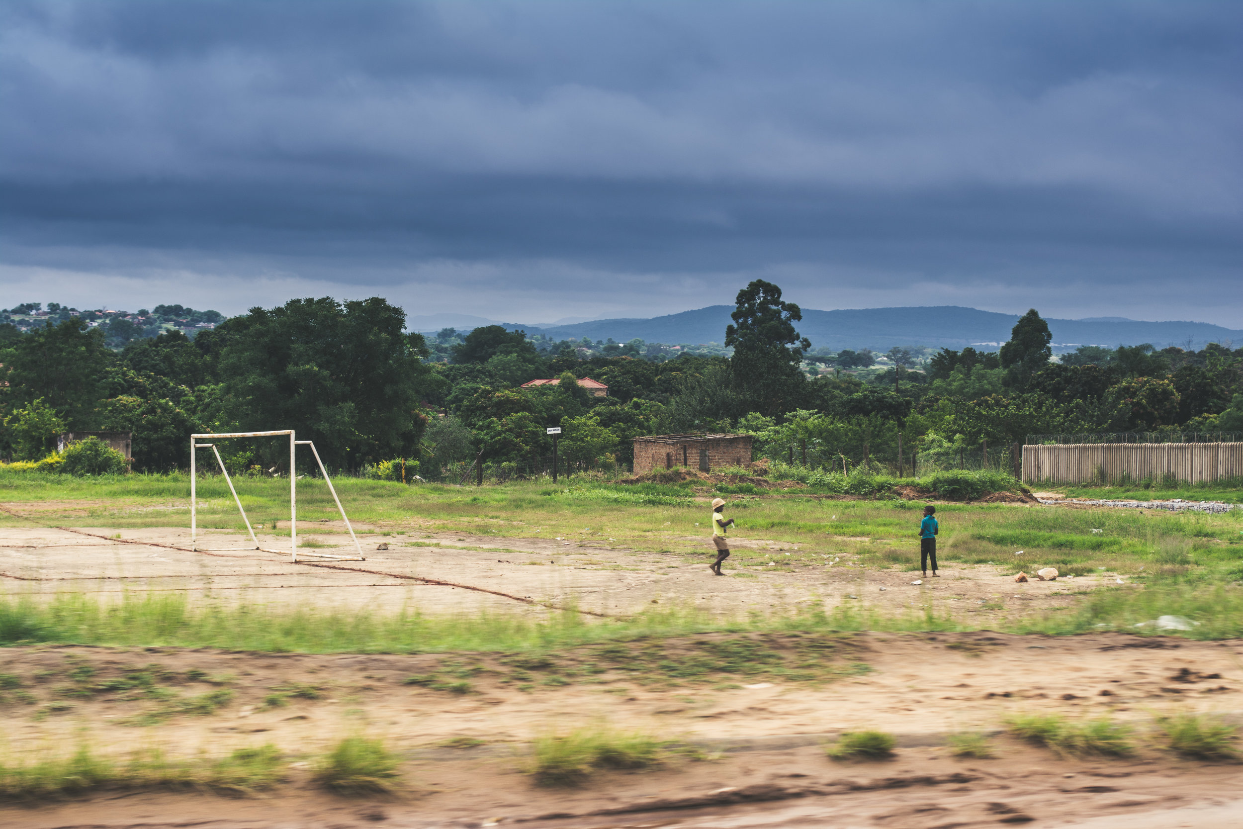 Limpopo children and soccer field