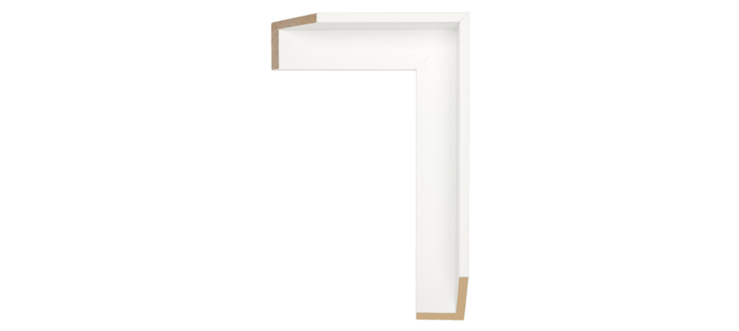 White Wood Float Frame