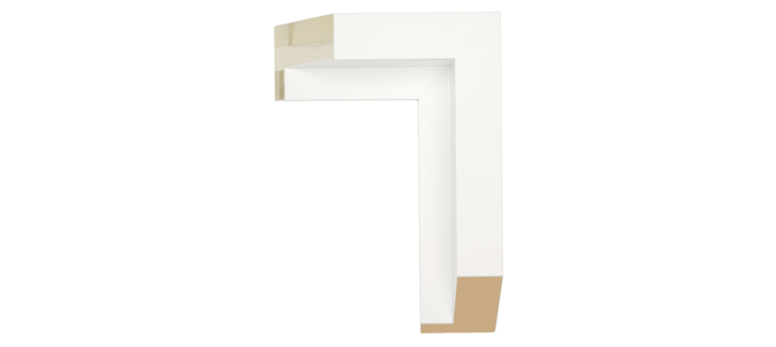 White Wood 2 Float Frame