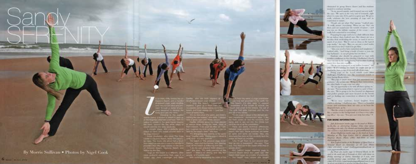 Our Beach Yoga Was Featured In Carla Magazine! - Published by The News Journal
