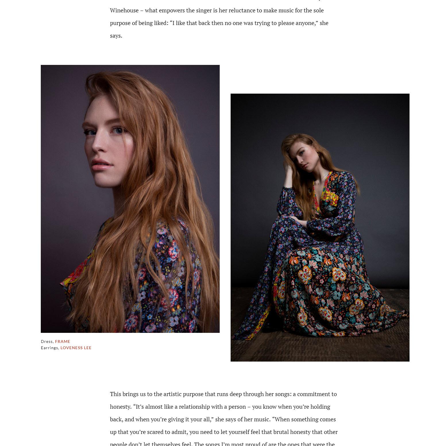 Freya Riding wearing Loveness Lee in Phoenix Magazine 2018